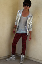 sunglasses - American Apparel jacket - American Apparel t-shirt - pants - shoes