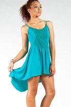 teal sole mio dress