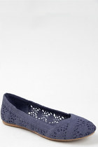 navy lace crochet Soda flats