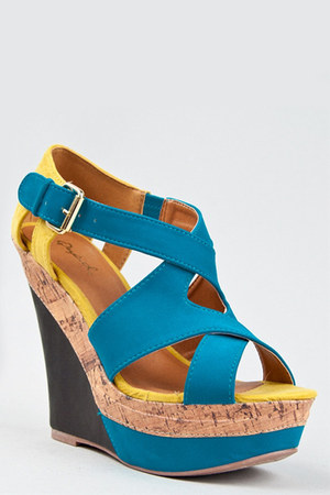turquoise blue Qupid wedges