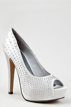 silver Madden Girl pumps