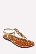 gold t-strap slip-on sam edelman sandals