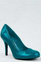 turquoise blue Paprika pumps