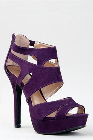 purple Qupid sandals