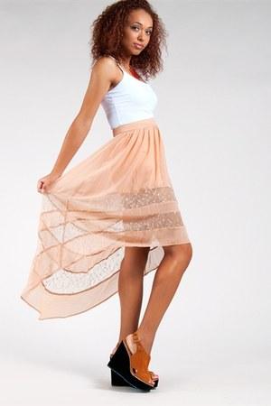 nude Lush skirt