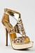 gold Anne Michelle sandals