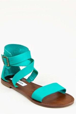 turquoise blue Steve Madden sandals