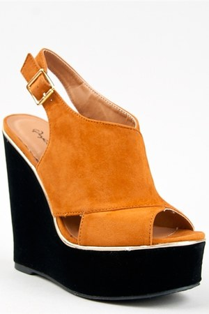 bronze Qupid wedges