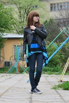 H&M jeans - Tally Weijl jacket - DIY bag - adidas sneakers - adidas blouse