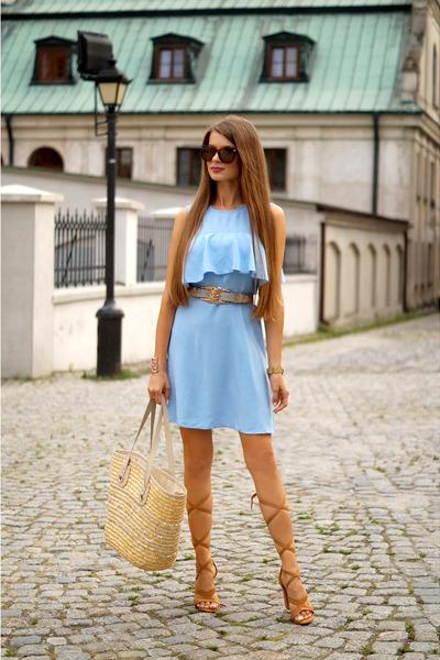 sky blue zaful dress