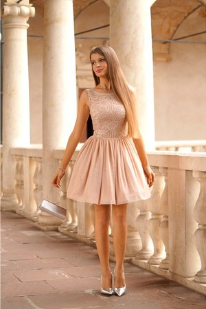 peach illuminate dress