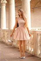 peach illuminate dress