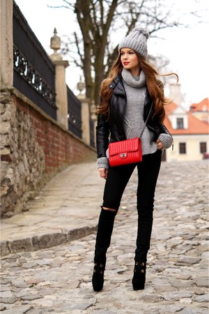 red OASAP bag