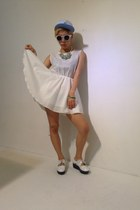 white havepp dress - white havepp sunglasses - aquamarine havepp accessories