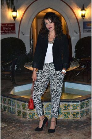 H&M blazer - Zara blouse