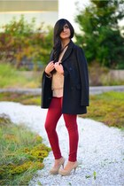 Gold Layers - Burgundy Jeans with Sequin Top