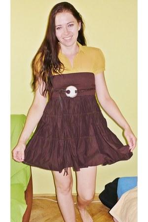 second hand blouse - next skirt
