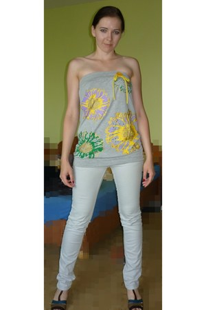 silver urban colection jeans - heather gray top