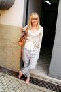 Brown-laysa-rosa-accessories-beige-zara-cardigan-silver-vintage-pants-pink