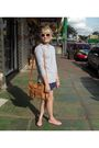 Silver-americanas-blouse-blue-americanas-shorts-brown-brs-purse