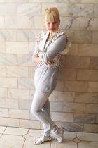 white Siberian shoes - silver Renner pants - silver Zara t-shirt - white Laysa R