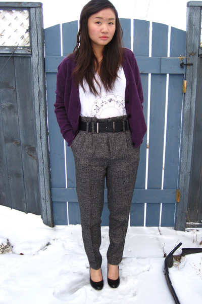 joe fresh style cardigan - Talula t-shirt - Zara pants - Aldo shoes