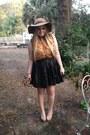 Kate-laundry-hat-denim-topshop-shirt-blouse-steve-madden-pumps