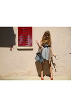 fridays proyect dress - Mango HE scarf - vintage belt - hazel purse - Zara shoes