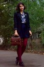 Black-leather-shoes-black-zara-blazer-maroon-tights-dark-brown-zara-purse
