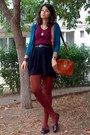 Black-pockets-h-m-skirt-crimson-thrifted-h-m-shirt-burnt-orange-tights