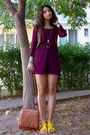 Black-thrifted-bag-tawny-purse-maroon-high-waisted-thrifted-shorts