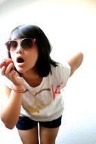 Jumble sale accessories - Self-made by Mi t-shirt - H&M shorts - kaufland