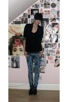 Topshop blazer - Topshop vest - H&M jeans - Office boots