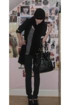 H&M vest - H&M jeans - Office boots - blazer - H&M hat - Topshop accessories