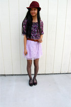 light purple skirt
