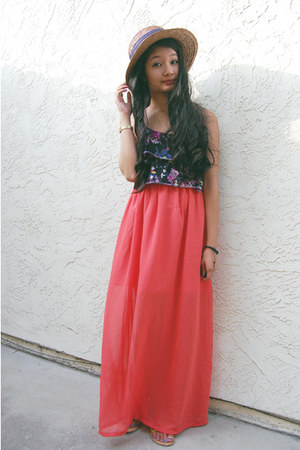 light orange maxi skirt skirt