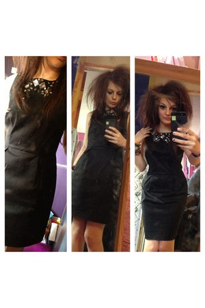 black gemmed Matalan dress