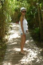 Zara t-shirt - Zara shorts - shoes - market in italy hat