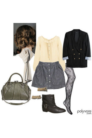 Chloe blouse - Rag and Bone blazer - Marc Jacobs purse - Marc by Marc Jacobs ear
