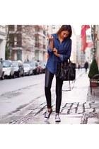 black leather balenciaga bag - black leather Oakwood pants