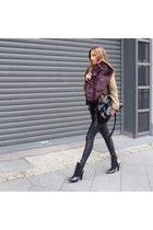 black leather Alexander Wang boots - army green H&M jacket