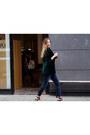 Gray-g-star-jeans-dark-green-weekday-blazer-black-stella-mccartney-bag
