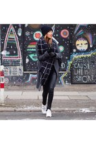 charcoal gray wool Stefanel coat - black wool H&M hat - black wool Zara scarf