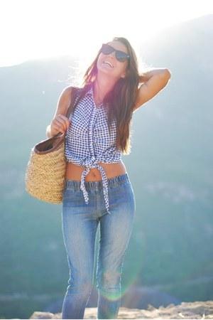 Forever 21 shirt - Urban Outfitters jeans - Aldo bag - Aldo glasses