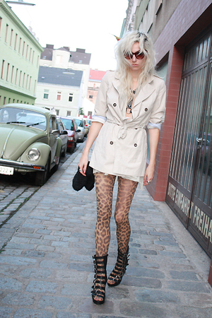 coat - shoes - dress - stockings - accessories