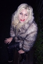 H&M Trend fake fur coat - H&M belt - etsycomsellerfrabjousfrocks pants - Colin S