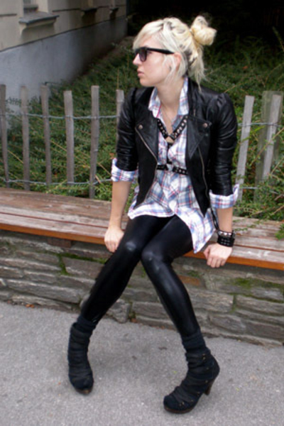 ebaycouk jacket - h&m mens shirt - ebaycouk pants - Jeffrey Campbell shoes
