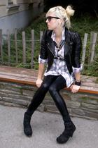 ebaycouk jacket - h&m mens shirt - ebaycouk pants - Jeffrey Campbell shoes
