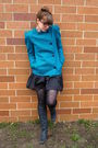 Blue-vintage-blazer-black-target-tights-black-steve-madden-boots-black-for