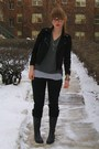 Black-urban-outfitters-boots-black-madewell-jeans-black-forever-21-jacket-